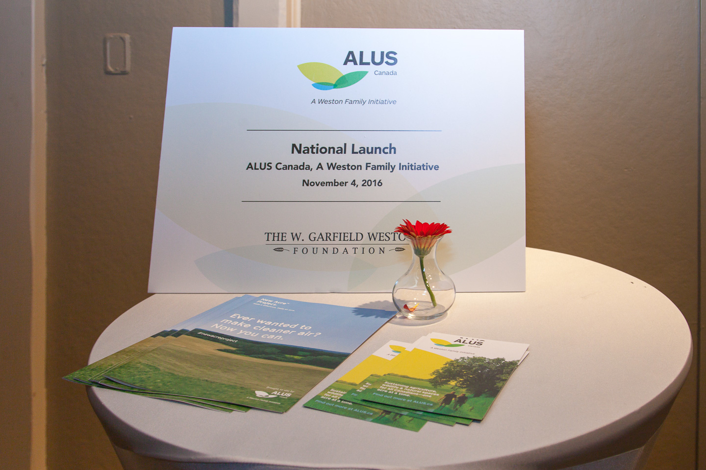 Welcome to the national launch of ALUS Canada, A Weston Family Initiative, on November 4, 2016, opening day of The Royal Agricultural Winter Fair, in Toronto.