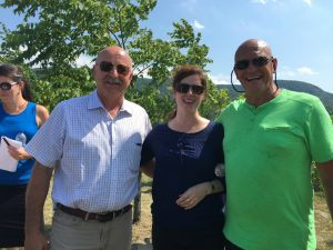 A great time was had by all at the ALUS Canada launch in la belle province on August 10, 2016. ALUS Canada CEO Bryan Gilvesy (on left), Director of Strategic Initiatives Lara Ellis, and our affable host, Jules Malouin (right), the first Quebec farmer to join the ALUS program.